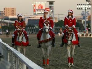 川崎競馬の誘導馬 トナカイ 3頭立てVer 5