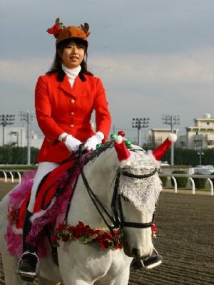 川崎競馬の誘導馬 12月開催 xmas平場Ver トーチくん 2