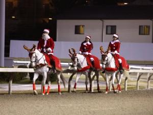 川崎競馬の誘導馬 12月開催 xmas 3頭立てVer2 1
