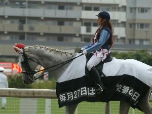 川崎競馬の誘導馬騎乗者が1日警察署長に 4
