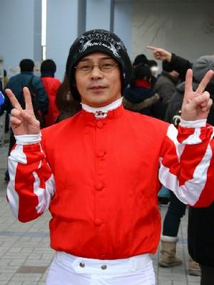 2012正月開催 騎手お出迎えイベントでの 岩城方元騎手