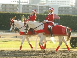 川崎競馬の誘導馬 クリスマス 2頭Ver 1