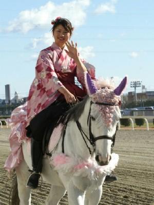 川崎競馬の誘導馬 1月開催 ドレスVer 3