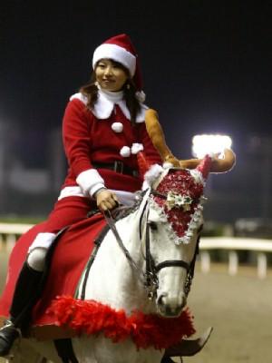 川崎競馬の誘導馬 12月クリスマスVer トライアンフトーチくん 2