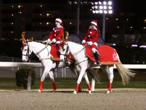 川崎競馬の誘導馬 12月開催 xmas 2頭立てVer 1