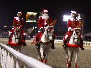 川崎競馬の誘導馬 12月開催 xmas 3頭立てVer2 2