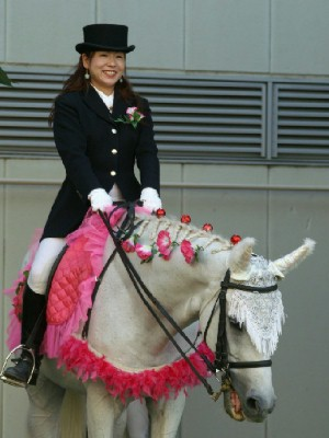 川崎競馬の誘導馬 7月前半開催 朝顔Ver ユーちゃん1