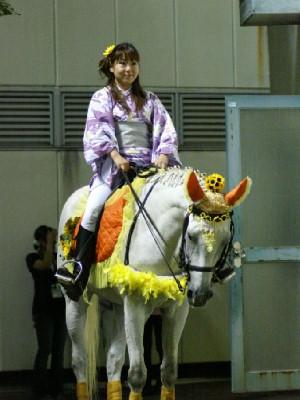 川崎競馬の誘導馬 8月前半 ひまわり 夜Ver1
